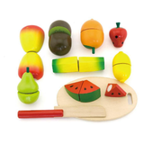 Cutting Fruit 10pc Wood
