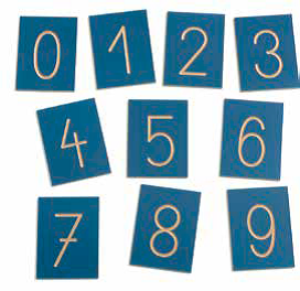 Wooden Numbers 0-9 in polybag