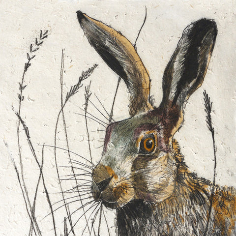 Mini Print Hare by Annabel Langrish