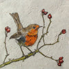Mini Print Robin & Rosehips by Annabel Langrish