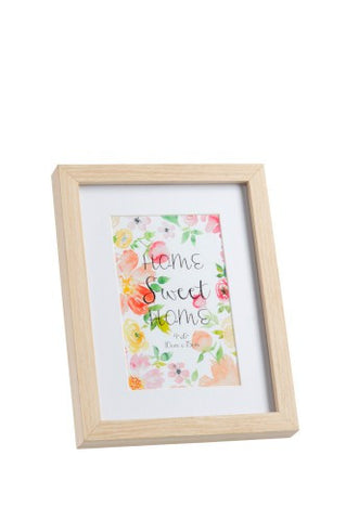 Natural Wooden Frame, Home Sweet Home ( MDF)
