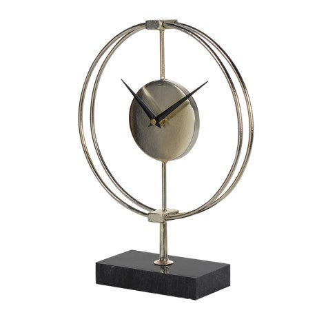 Gold Ring Clock on Stand