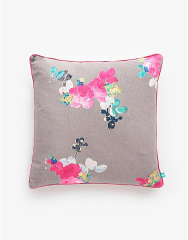 Joules Grey Floral Cushion