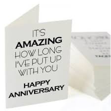 Put Up With You Anniversary Card