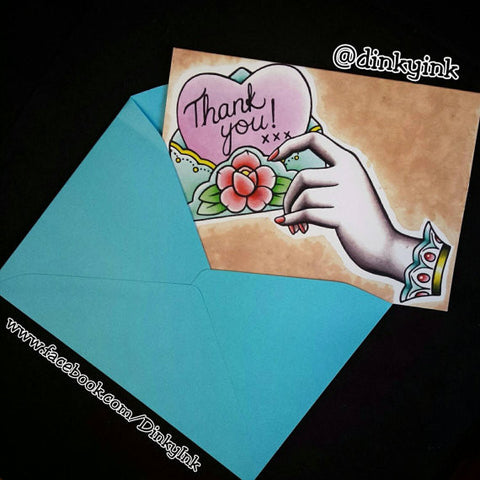 DinkyInk Thank You Card
