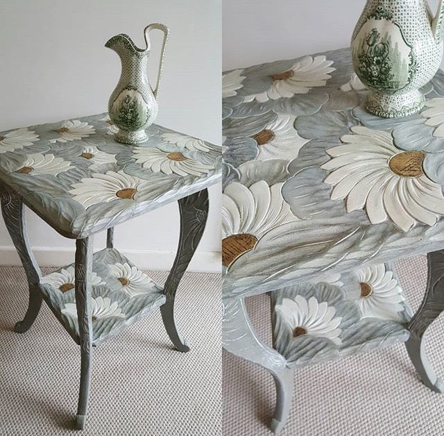 Hand-Painted Side Table by Sue Gifford