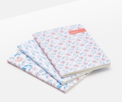 Joules Set Of 3 A6 Notebooks