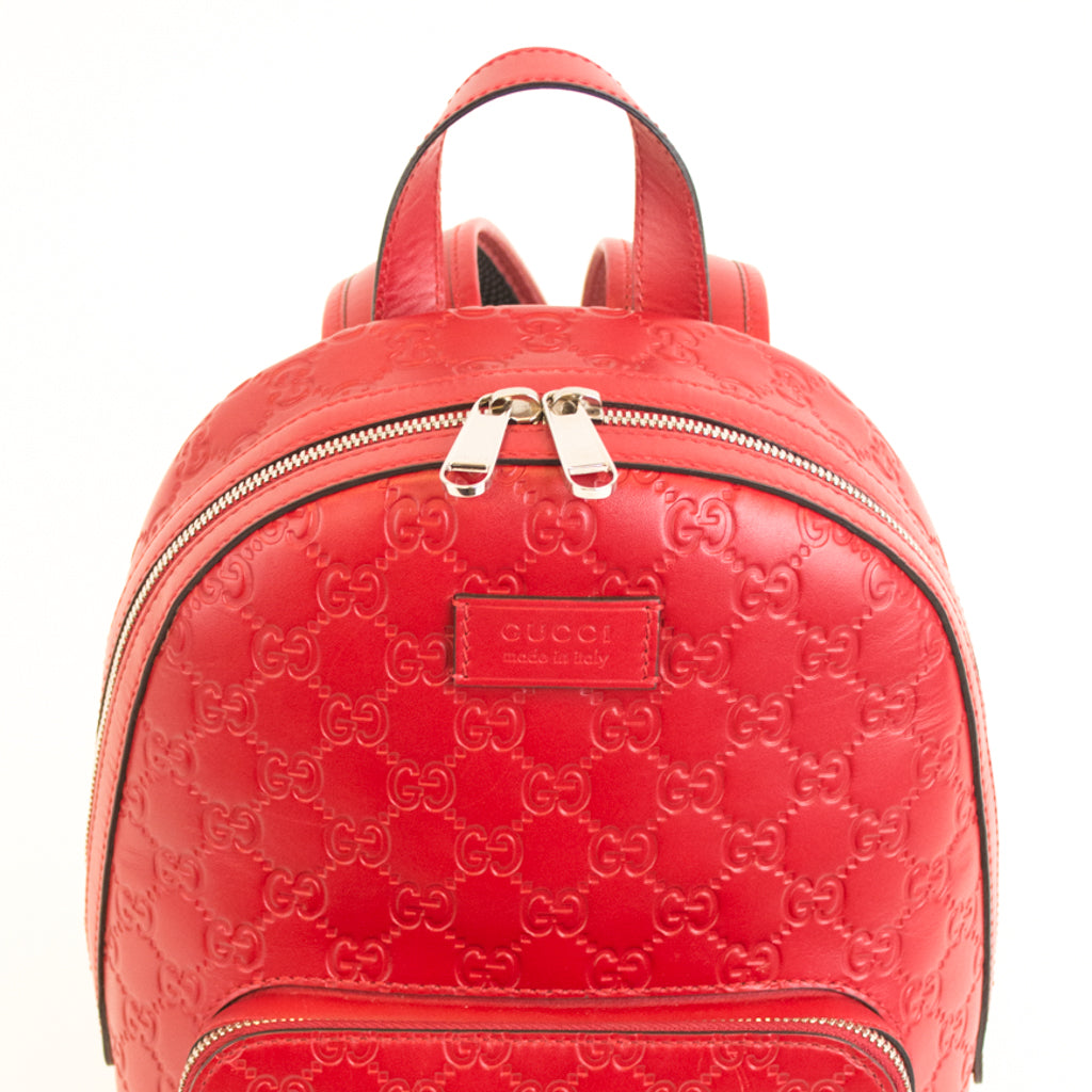 GUCCI Signature Pocket Backpack Guccissima Leather