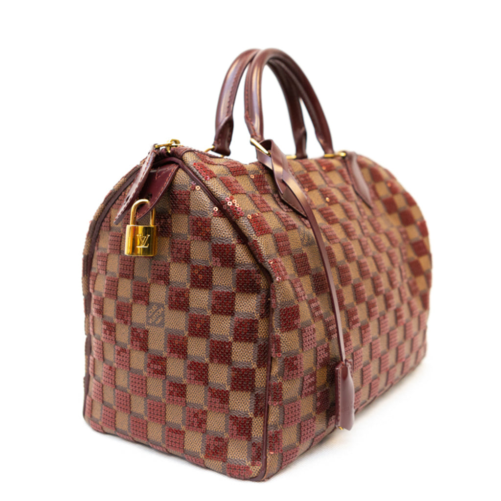 LOUIS VUITTON Speedy 30 Damier Paillettes