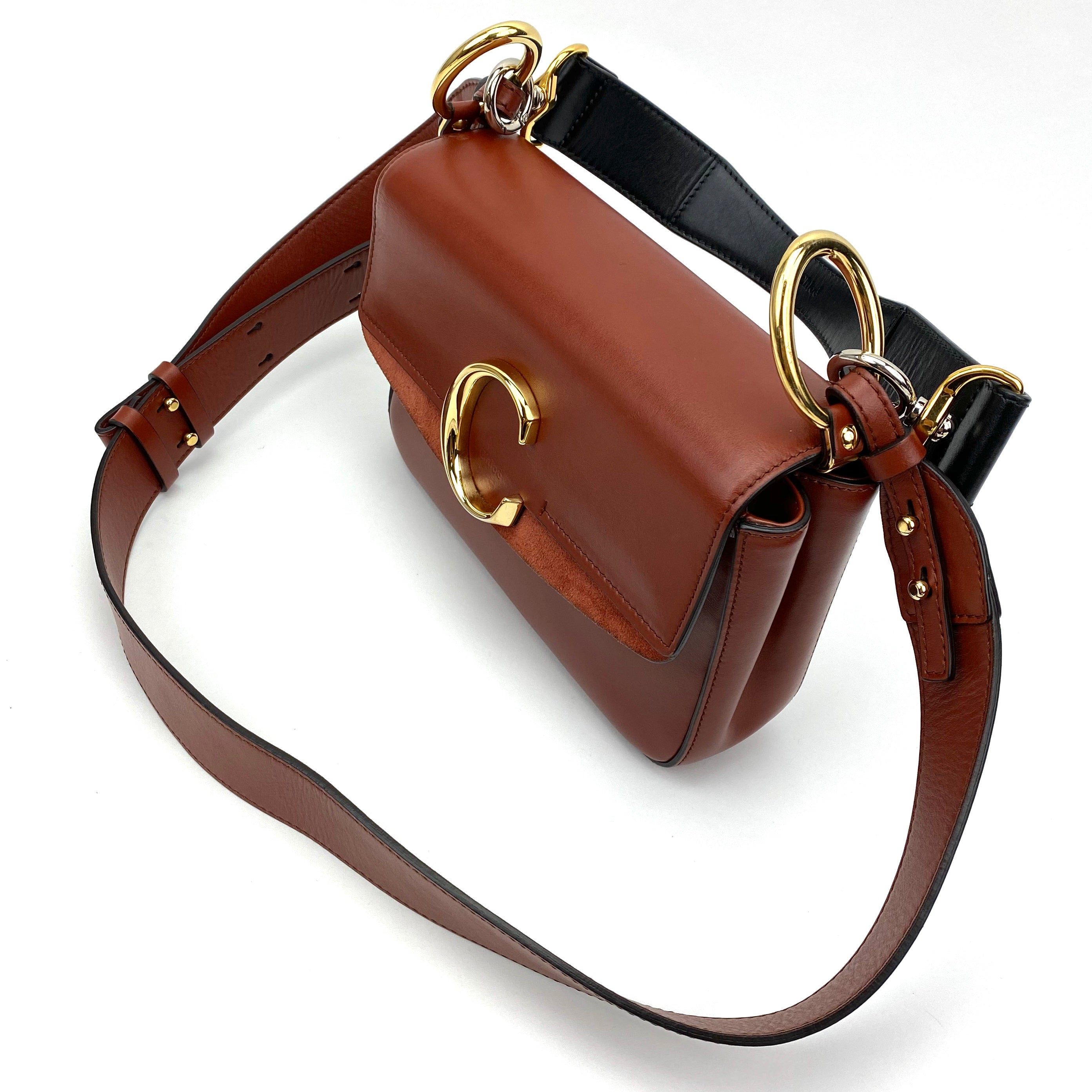 CHLOÉ Small C Double Leather Carry Bag