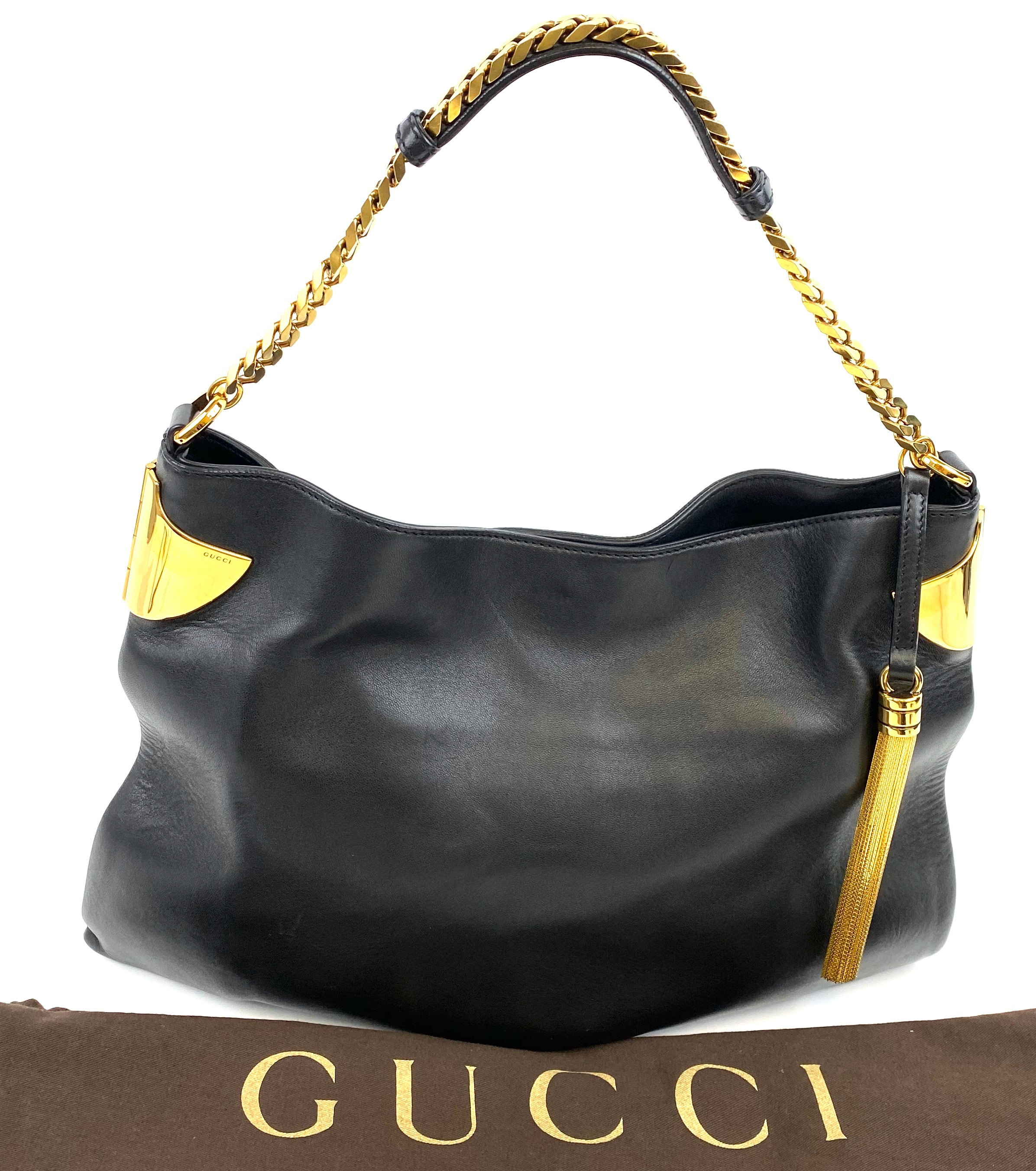 GUCCI 1970 Leather Hobo