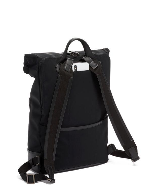 TUMI Harrison Oak Roll Top Backpack - Black  -- NEW with TAGS!!!
