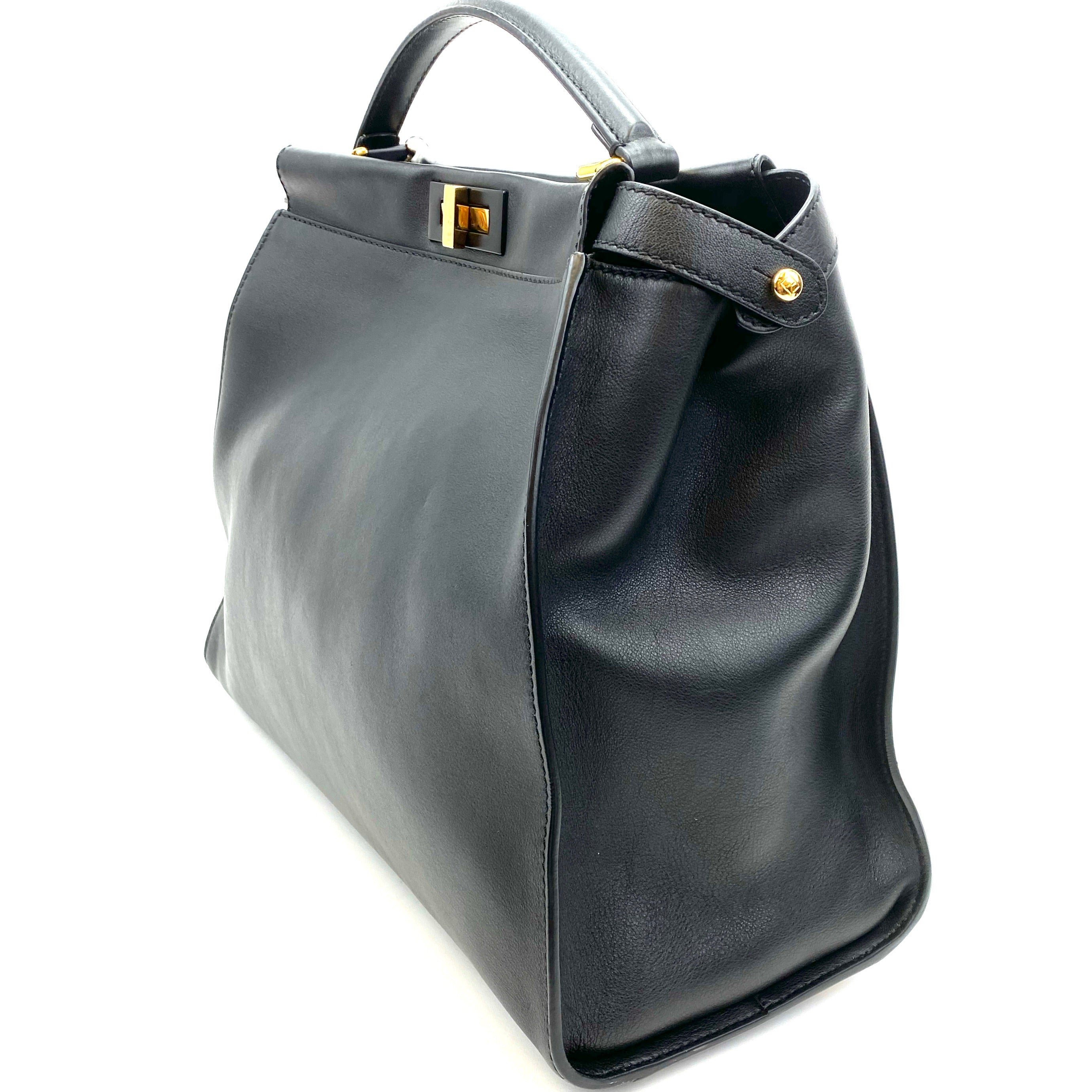 FENDI Leather Peekaboo Tote