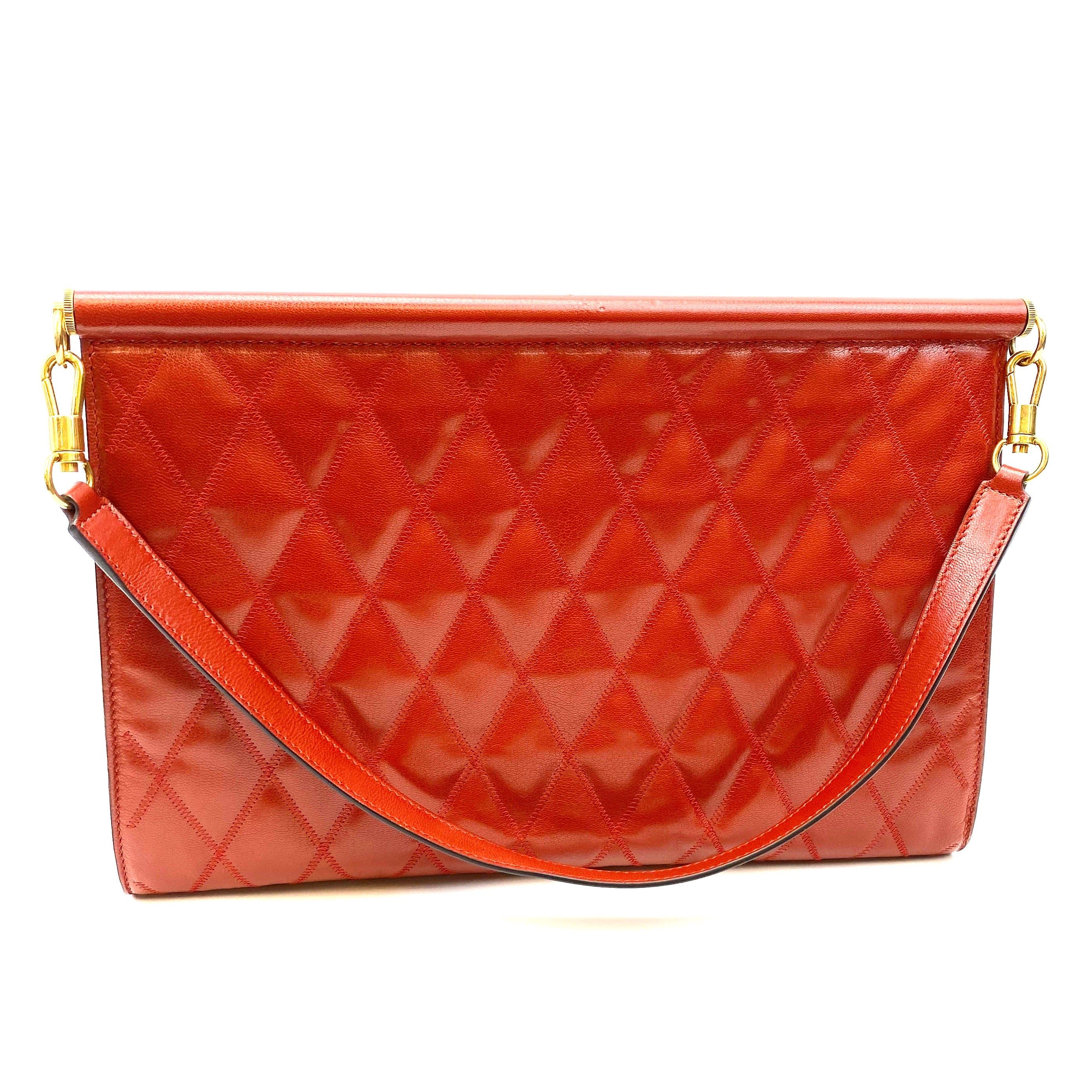 GIVENCHY Gem Quilted Medium Frame Clutch