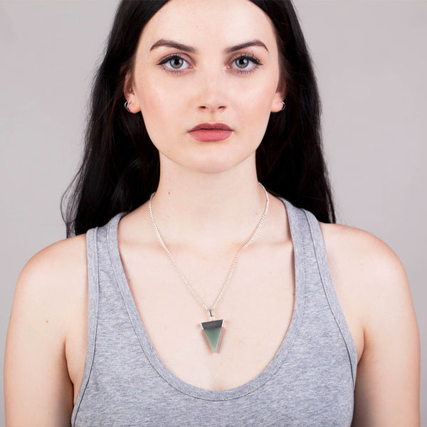 Geo Green Aventurine Necklace - Hawthorn and Co - 2
