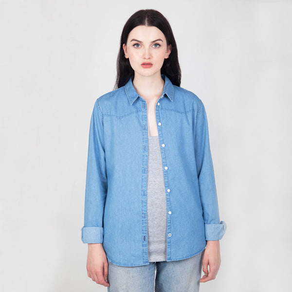 River Organic Cotton Denim Shirt - Hawthorn and Co - 1