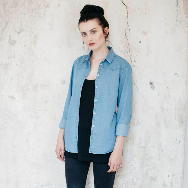 River Organic Cotton Denim Shirt - Hawthorn and Co - 3