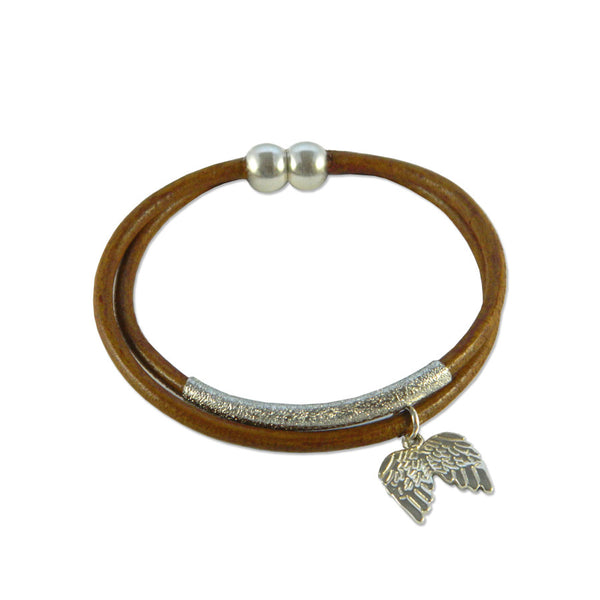 Fly Away Leather Bracelet - Hawthorn and Co - 1