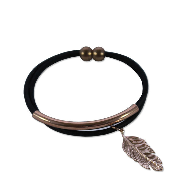 Light as a Feather Leather Bracelet - Hawthorn and Co - 1