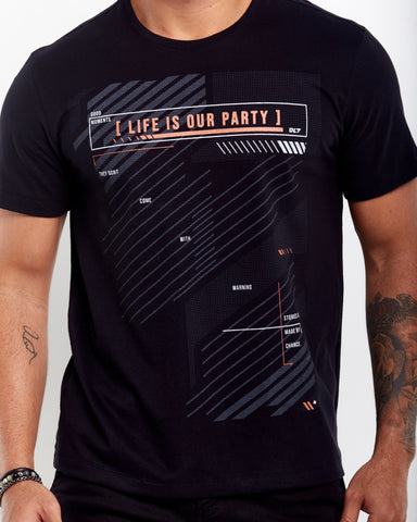 T-SHIRT ESSENCE LIFE IS OUR PARTY