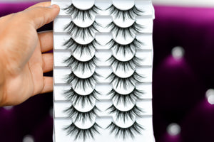 Lexy 8 Pairs 3D Mink Lashes Natural False Eyelashes Dramatic