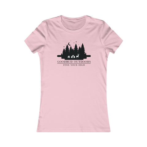 Image of Women's Goodbud Outdoors Vintage Camping T-shirt