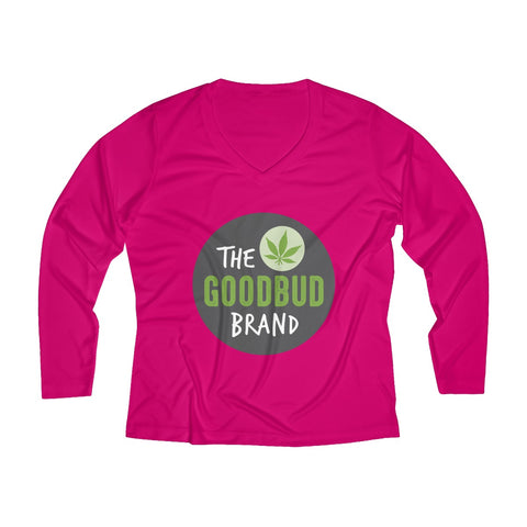 Image of Women's Long Sleeve Performance V-neck Tee Logo