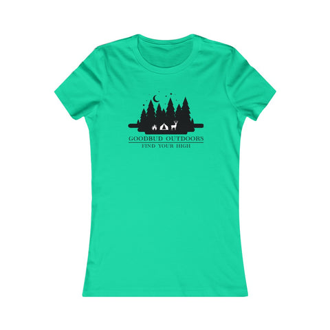 Women's Goodbud Outdoors Vintage Camping T-shirt