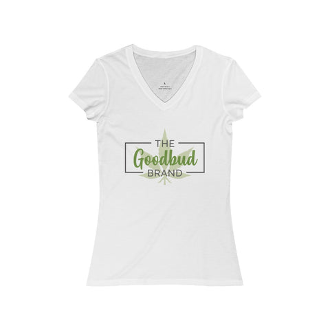 Women's V-Neck Goodbud Logo