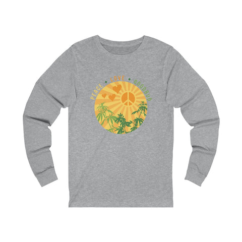 Image of Long Sleeve Peace Love and Goodbud Alternate