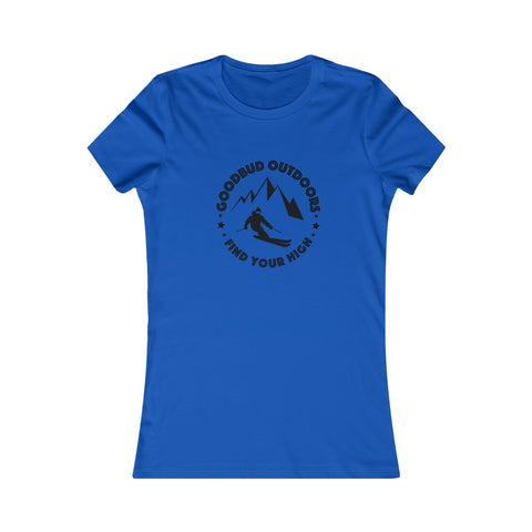Women's Goodbud Outdoors Vintage Ski T-shirt
