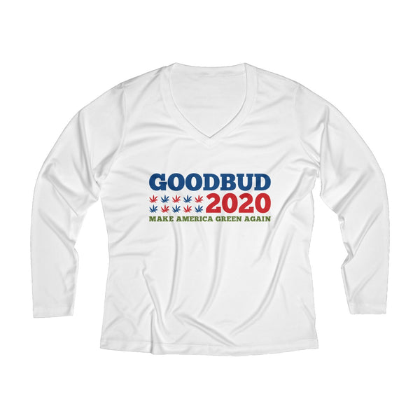 Women's Long Sleeve Performance V-neck Tee Election