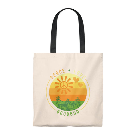 Image of Tote Bag - Vintage Peace, Love, Goodbud