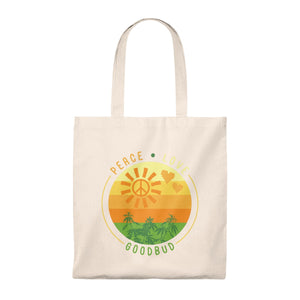Tote Bag - Vintage Peace, Love, Goodbud