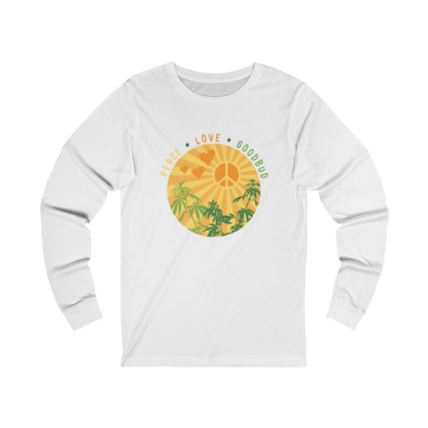 Long Sleeve Peace Love and Goodbud Alternate