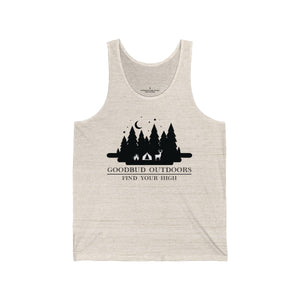 Goodbud Outdoors Vintage Camping Unisex Tank