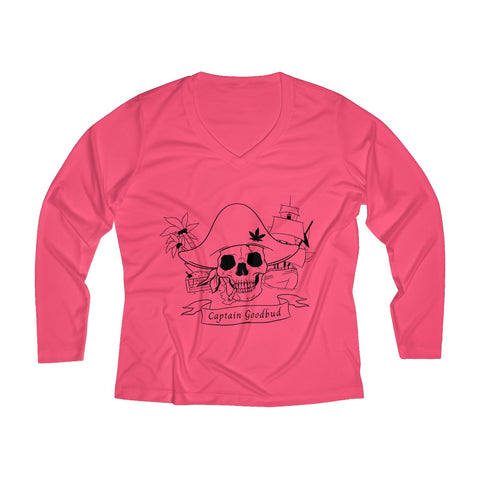 Image of Women's Long Sleeve Performance V-neck Tee Flag