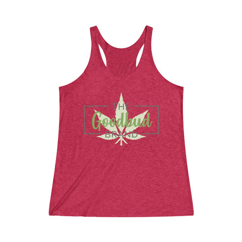 Image of Women's Tanktop Goodbud Leaf Logo
