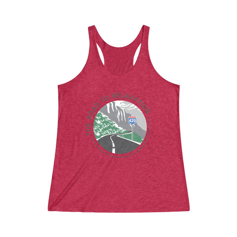 Image of Women's Tanktop Road To Relaxation