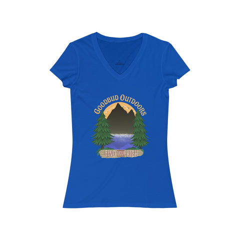 Image of Women's V-Neck Goodbud Outdoors