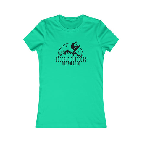 Image of Women's Goodbud Outdoors Vintage Snowboarding T-shirt