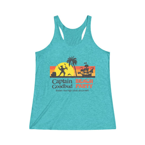 Image of Women's Tanktop Captain Goodbud Beach Party