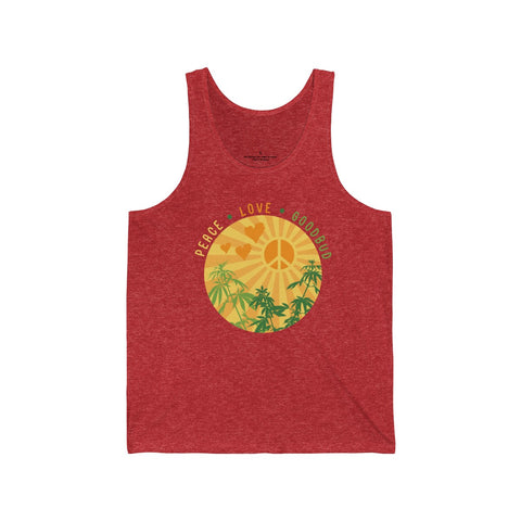 Men's Tank Peace Love Goodbud