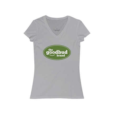 Image of Women's V-Neck Goodbud Logo