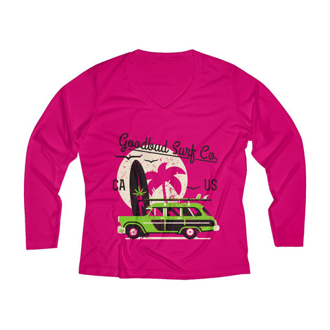 Women's Long Sleeve Performance V-neck Tee Surf Co