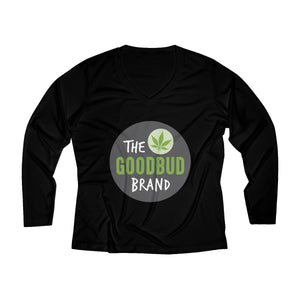 Women's Long Sleeve Performance V-neck Tee Logo