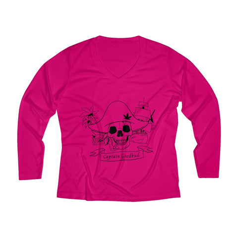 Women's Long Sleeve Performance V-neck Tee Flag