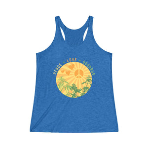 Women's Tanktop Peace Love Goodbud