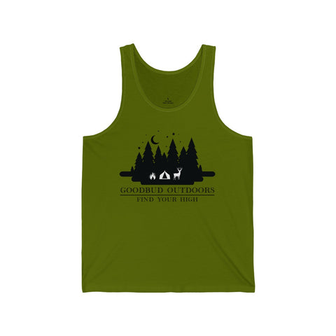 Image of Goodbud Outdoors Vintage Camping Unisex Tank