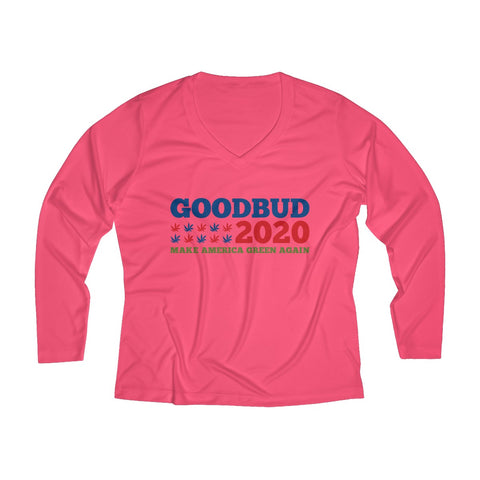 Image of Women's Long Sleeve Performance V-neck Tee Election